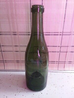 An Antique Dutch Green Glass Union Wine Bottle 17th Century