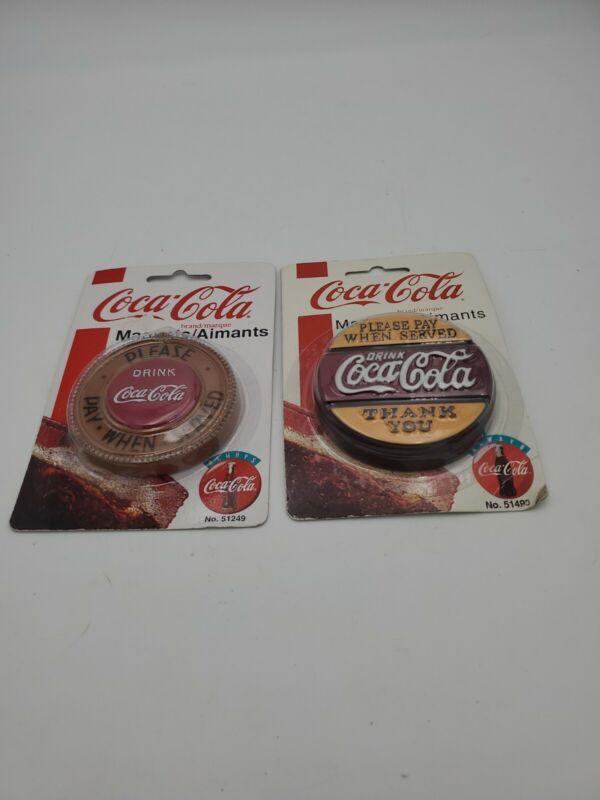 2 Coca-Cola Magnet 1997/1998 drink Coca Cola No. 51493/51249  original package