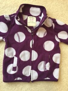 Zipped Fleece Top - 6-12 months old baby girl