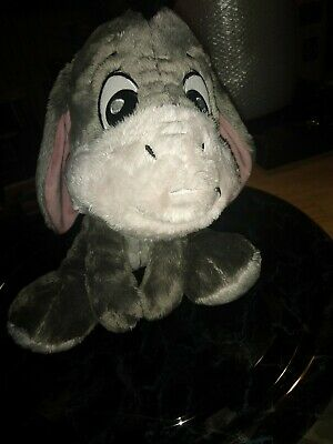 "Walt Disney Store Eeyore Winnie The Pooh Large Plush Toy 15"" very soft. B"