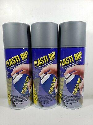 3 Pk 11 Oz Performix Plasti Dip Gunmetal Rubber Coating Spray Paint 11221-6