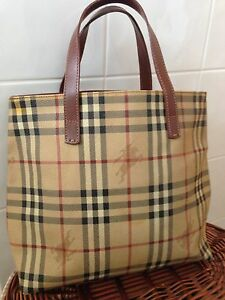 PRICE DROP authentic burberry haymarket check hand tote bag Perth Perth City Area Preview