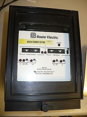 1 pc Basler Electric BE1A-25-M1G-A6T-N4V1F Sync-Check Relay, Used