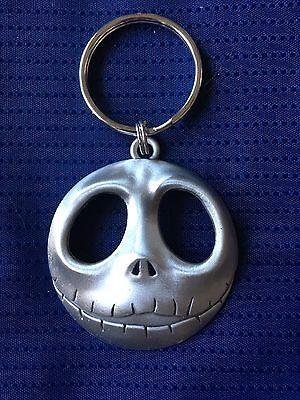 Jack Skeleton/Nightmare Before Christmas Pewter Metal Silver Keychain