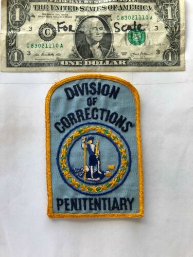 Rare Division of Corrections Penitentiary Police patch un-sewn great condition