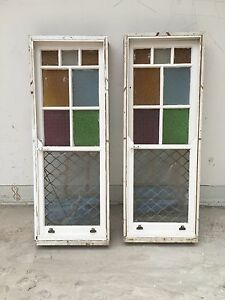 Retro sash windows with stained glass North Sydney North Sydney Area Preview