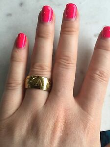 Bvlgari BVL gold steel ring Windsor Brisbane North East Preview