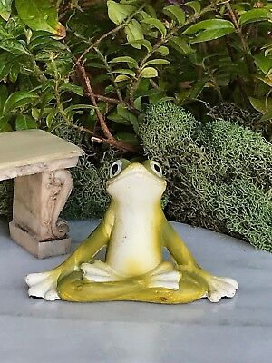 Used, Miniature FAIRY GARDEN ~ Mini Yoga Frog in Lotus Pose Figurine ~ NEW for sale  Shipping to Canada