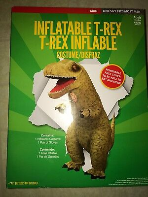 Giant Inflatable T Rex (MorphCostumes Giant Blow Up Inflatable T-Rex Dinosaur Costume Halloween)
