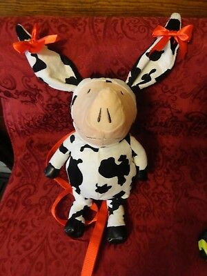 Olivia Pig Costume (Gently Used, Olivia Pig in Cow Costume with Bows Plush)