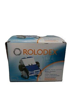 Rolodex Open Rotary Business Card File 200 Card Office Home 67236 Black