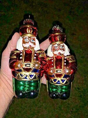 Vintage Santa Claus Toy Soldier Drummer Boy Ornament Blow Mold + FREE ❤️sj11h1s