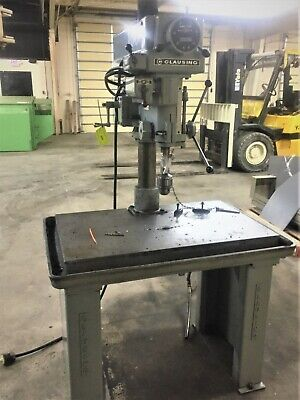 Clausing Model 2286 20 Variable Speed Drill Press With 24 X 40 Table 20-501
