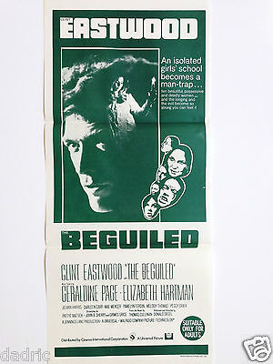 """1970s CLINT EASTWOOD RR DAYBILL MOVIE POSTER """"THE BEGUILED"""""""