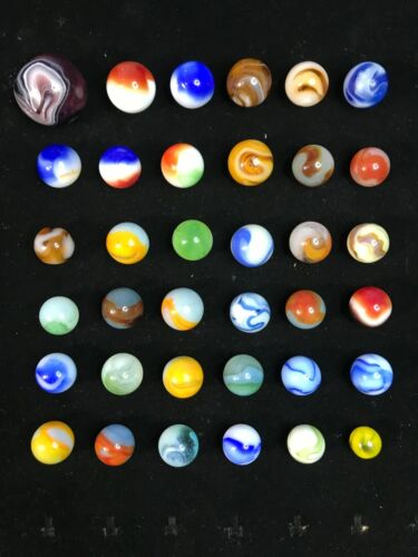 36 VINTAGE MARBLES MIXED LOT 4