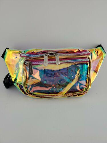 SoJourner Holographic Rave Fanny Pack - Gold & Pink Transpar