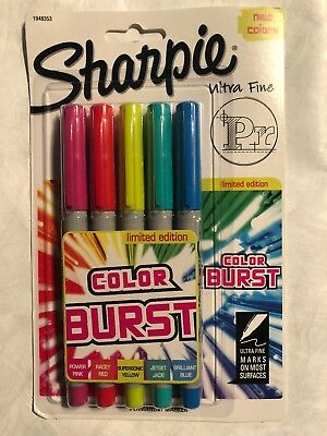 Sharpie Color Burst Permanent Markers Ultra-fine Point Assorted 5pack 1948353