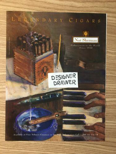 Nat Sherman Cigars Illustrated Print Ad Advertisement: Legendary