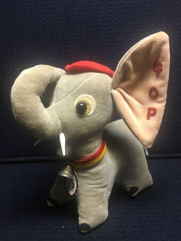 Vintage Jerry Pets Elsner GOP Republican Elephant Plush Stuffed Animal