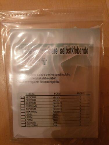 8 Tens elektroden pads 40 x 40 mm