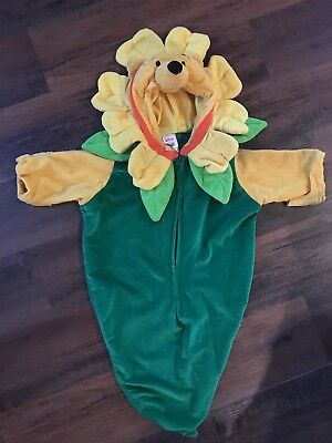 Disney Store Winnie the Pooh Flower Baby Infant Dress Up Halloween 0-6 Mo Fit ()