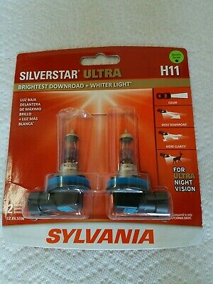 Sylvania SilverStar Ultra H11 Dual Pack Halogen Headlights.. Brand New Sealed!!!