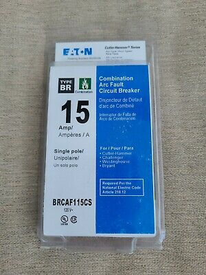 Eaton Single Pole Combination Arc Fault 15 A Circuit Breaker Brcaf115cs