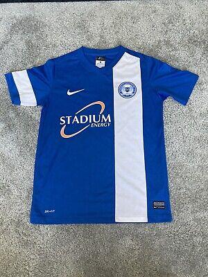 Peterborough United 2013/14 Home Football Shirt Size Large Boys  image