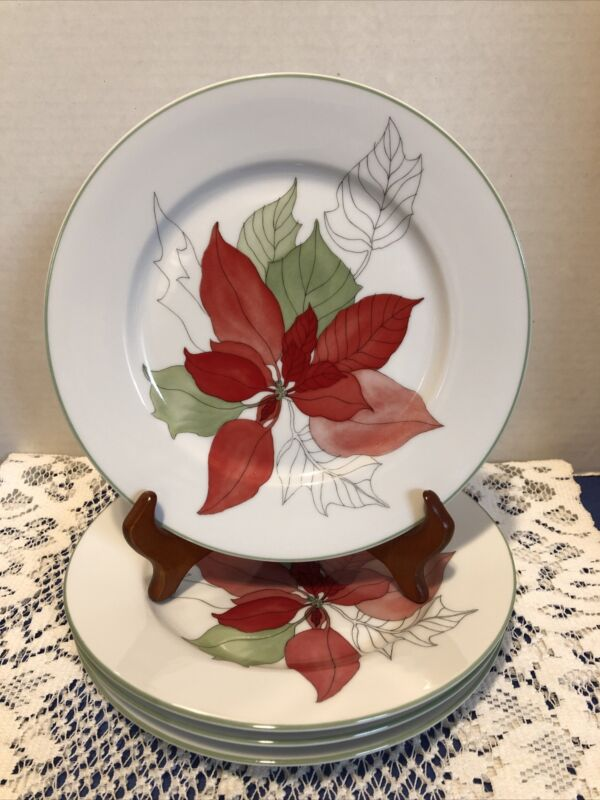 "Poinsettia By Block Spal-Portugal-4-7 3/4"" Salad Plates"
