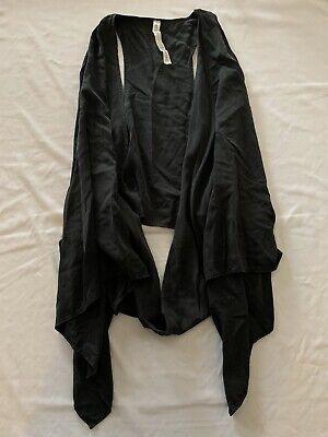 Lululemon Women's Tranquility Wrap Vest Yoga Gym Workout Casual Black Size 8