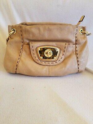 B. Makowsky Hobo Handbag PremiumShoulder Bag camel brown tortoise shell detail