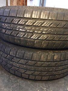 Two all season tires lots of tread 215/70r15