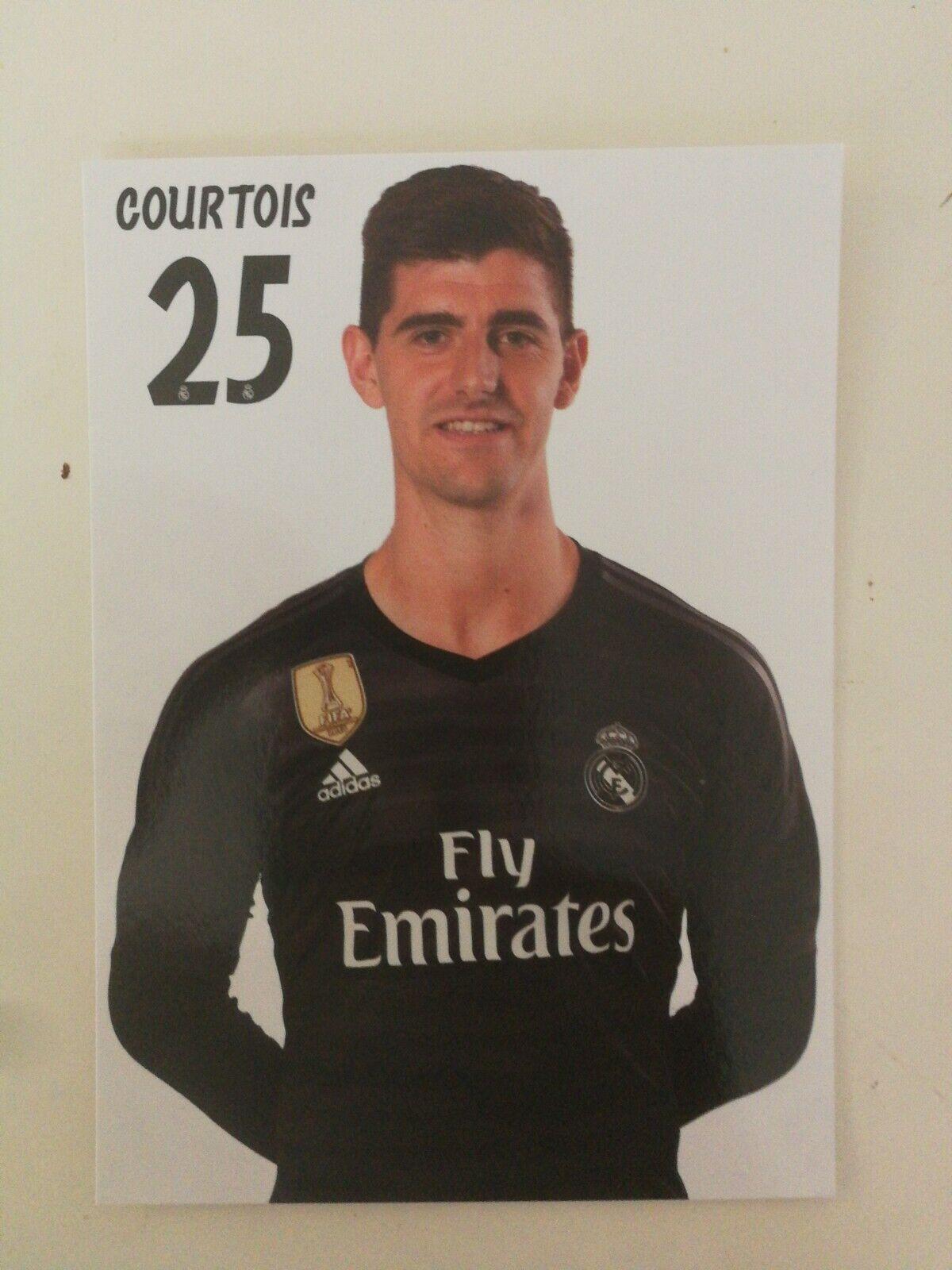 Carte Postale officiel Diables Rouges Real Madrid Thibaut Courtois