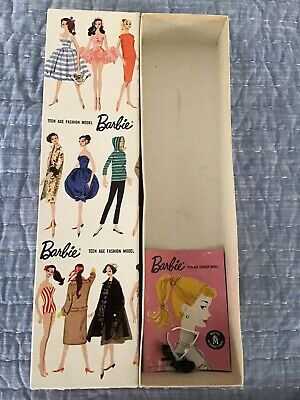 "Beautiful! Vintage Barbie STOCK No 850 PONYTAIL ""R"" Box For A #1, #2, #3, #4"