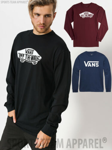 Adult VANS MENS classic logo t-shirt skateboard long sleeve tee