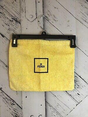 Authentic Fendi Med. Size Vintage Handbag Storage Drawstring Dust Bag 9.5 x 12