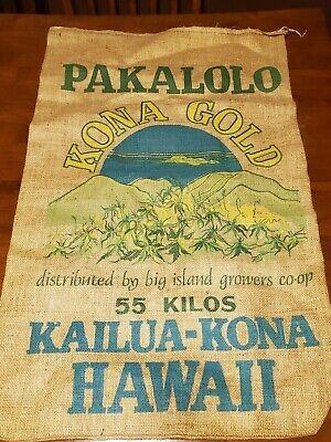 PAKALOLO KONA GOLD Marijuana 55 Kilo Burlap Bag Hawaii