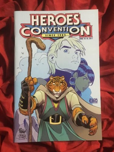 2017~HEROES CONVENTION SHOW GUIDE~MIKE WIERINGO COVER ART~UNSIGNED