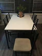 Solid Wood & Iron Dining Table Elanora Heights Pittwater Area Preview