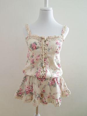 NEW Liz Lisa From Japan Rompers Lolita Hime Gyaru shibuya109 Very Cute (pa19)