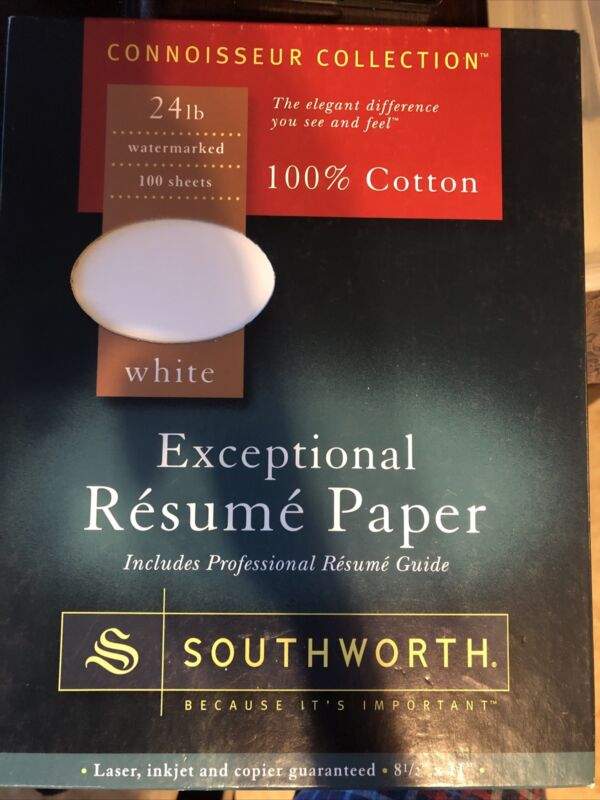 Southworth 100% Cotton Resume Paper Ivory 24 lbs. 8-1/2 x 11 Wove 100/Box R14ICF