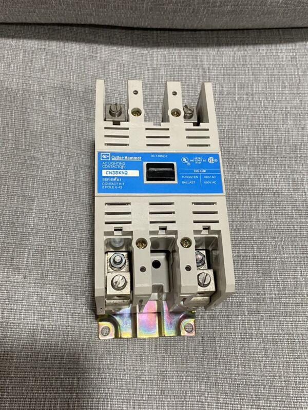 Cutler-Hammer AC Lighting Contactor CN35KN2 100A 2P 110/120V Coil