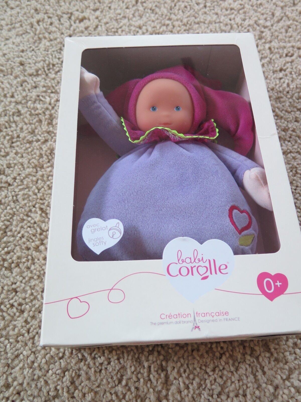 NEW NIP Corolle Doll Babi Baby Elf Flowers Purple Pink Soft