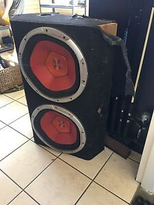 2x 15 inch subs and 2 amps inside box Waratah West Newcastle Area Preview