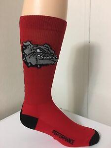 *** 1 Pair Men's Bulldogs Elite Crew Socks Large***