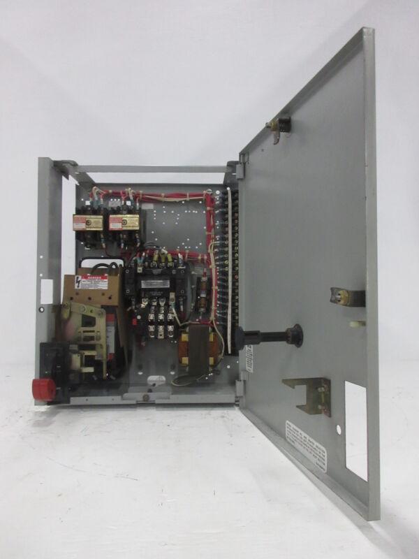 "General Electric GE 8000 Size 1 Starter 3 Amp Breaker Type 18"" MCC Bucket TEML"