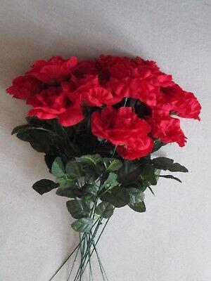 ot 55cm Künstliche Kunst Seiden Blumen Strauß Wohnideen Fest (Künstliche Rote Rosen)