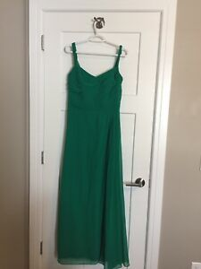 Womens Full Length Ralph Lauren Green Evening Dress