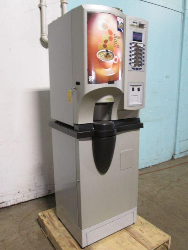 """CRANE-GENESIS B2C US"" 12 COFFEE FLAVORS H.D. VENDING MACHINE w/COIN ACCEPTOR"
