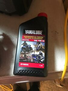 4litres of yamalube 10w40 oil